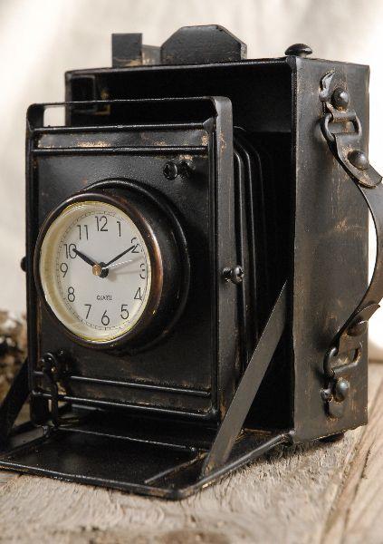 75864751647 metal camera clock