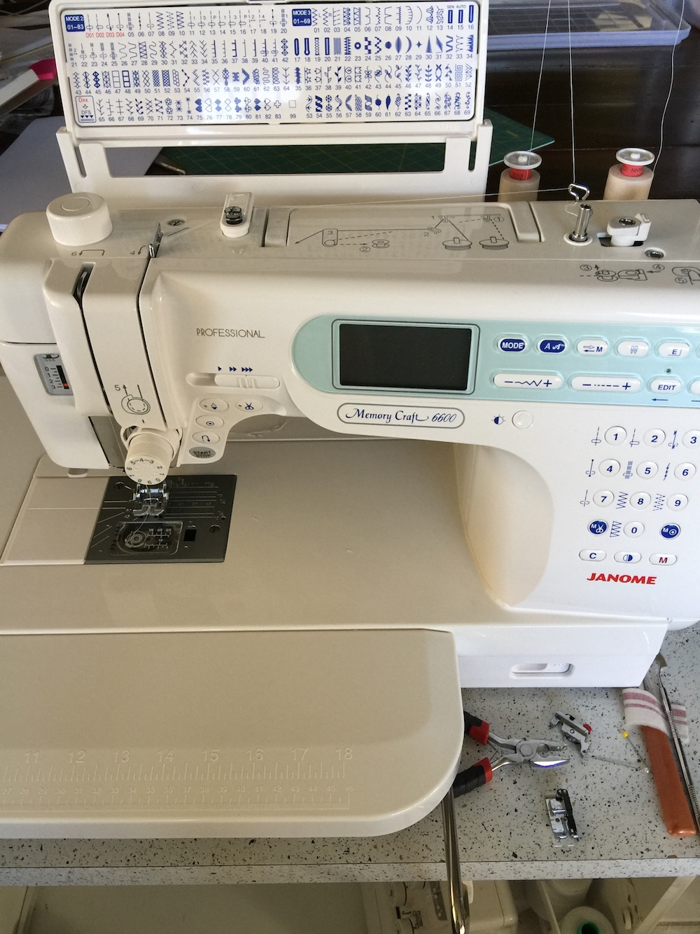 Janome 6600P – my new sewing machine