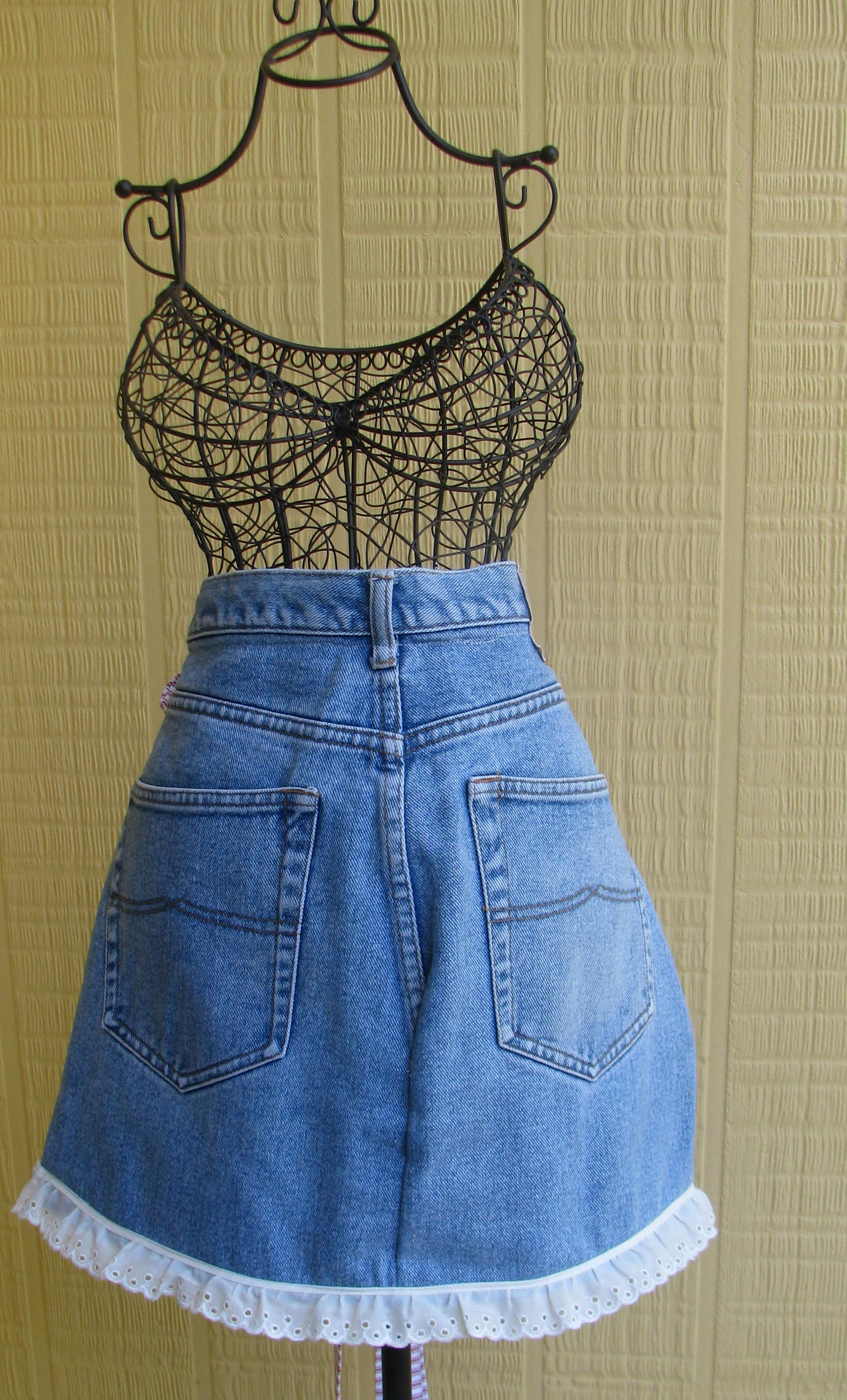 Recycled Jeans Made Into Aprons String Amp Scissors
